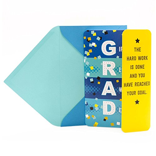 Hallmark Musical Graduation Card With Light and Sound (Confetti and Stars, Plays Celebration by Kool & the -