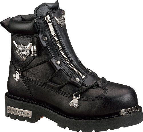 Harley-Davidson Mens Brake Light Riding Motorcycle Boot, Black, 9.5W