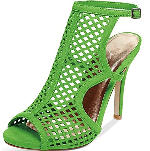 YDN Hollow-out High Heeled Sandals Peep Toe Stilettos