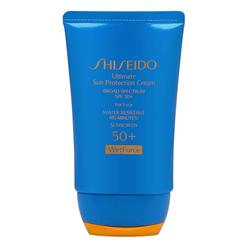 Shiseido Ultra Sun Protection Cream 50+ WetForce Broad Spectrum SPF 50+ For Face Full Size 50 mL In Retail Box