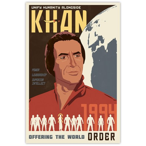 """Price comparison product image Unify Humanity: Star Trek Khan 16"""" X 24"""" Lithograph Poster Art Print"""