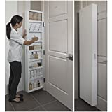 Behind The Door Concealed Storage Cabinet, 8 Shelves, Adjustable and Customizable Design, Bathroom Furniture, Innovative Space-Saving Solution, Medicine Cabinet, Easy to Assemble