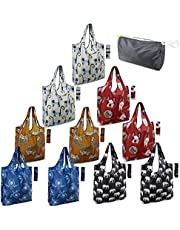 Rolled Up Grocery Bags Reusable Shopping Bags Foldable for Groceries