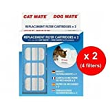 Cat/Dog Mate Pet Fountain Replacement Filter Cartridges pack of 2 x 2