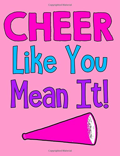 Cheer Like You Mean It Wide Ruled Notebook por Bows & Poms Publishing