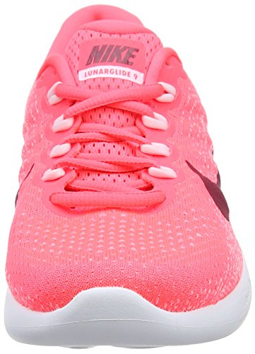 Damen Punch Noble WMNS Lunarglide Hot 9 Laufschuhe Pink Red Orange Arctic White NIKE a4qwFq