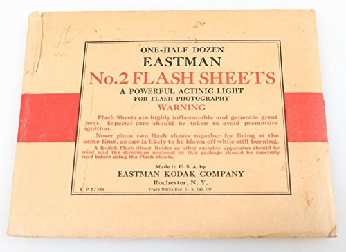 Rare 1897 Antique (PHOTOGRAPHICA EASTMAN FLASH SHEETS NO 2. 1897 PACK)