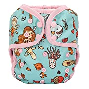 One Size Cloth Diaper Cover Snap With Double Gusset (Mermaid)