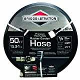 Briggs & Stratton 8BS50 50-Foot Premium Heavy-Duty Rubber Garden Hose