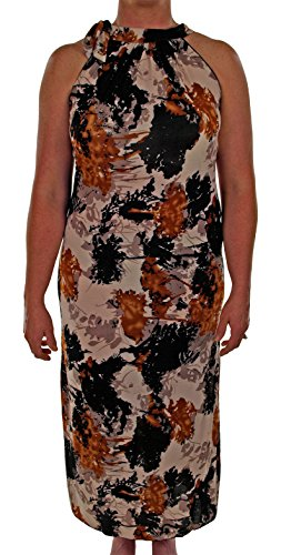 Black Maxi Size Gold Pattern AFC Dress Summer Floral Womens Plus With Spray amp; vTwABSW1