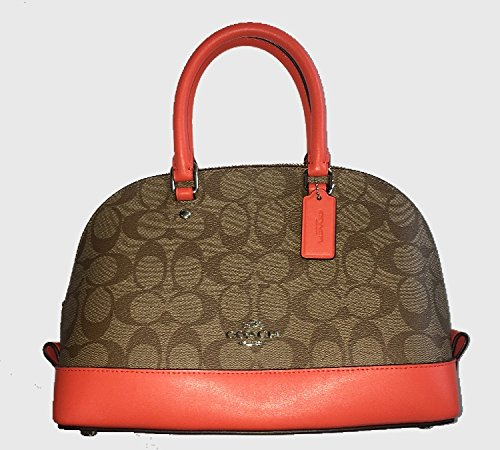 Coach Signature Mini Sierra Satchel - - Patchwork Signature Bag Satchel