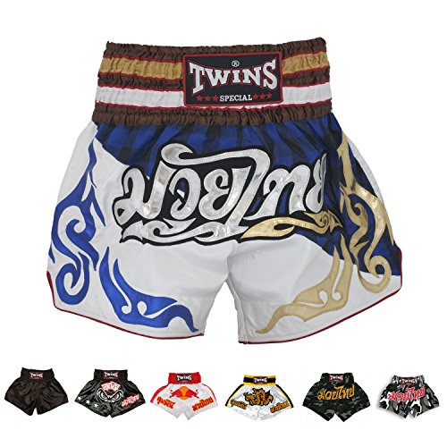 Twins Special Muay Thai Boxing Shorts (T-44 Scottish Blue,M)