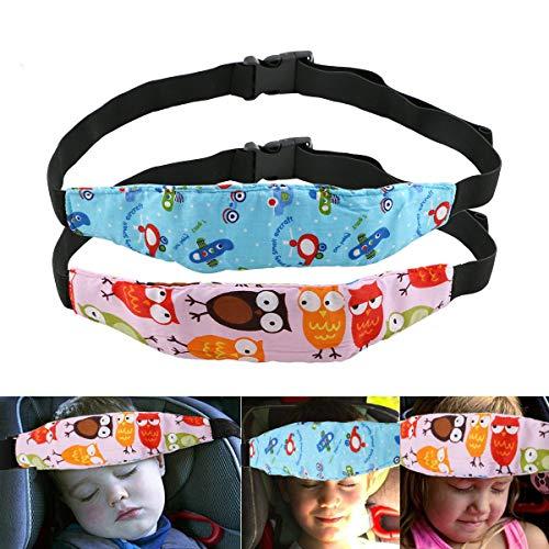 Toddler Car Seat Head Strap Nap URAQT 2PCS Baby Kids Safety Head Support Hugger