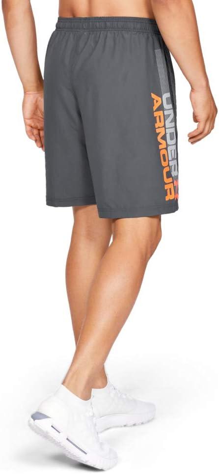 komfortable Sportshorts mit loser Passform Woven Graphic Wordmark Short Under Armour Herren ultraleichte und atmungsaktive Sporthose