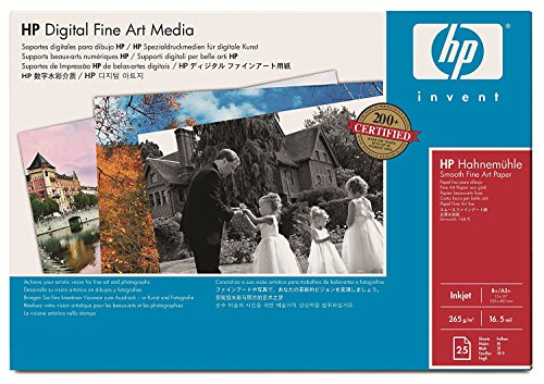 13x19 Inch 25 Sheets - HP Hahnemuhle Q8729A Watercolor Paper 13
