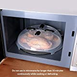 Magnetic Microwave Splatter Cover,EZONTEQ Microwave Plate Guard Lid With Steam Vent 11.8 Inch