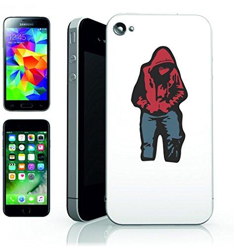 Smartphone Case con cappuccio rosso di jeans del cuore di Hip Hop Rap Deejay di cuore spezzato per Apple Iphone 4/4S, 5/5S, 5C, 6/6S, 7& Samsung Galaxy S4, S5, S6, S6Edge, S7, S7Edge Huawei HTC