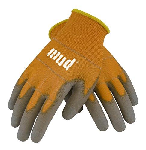 (Smart Mud Garden Gloves - Orange (Large))
