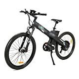 ECOTRIC 26' Electric Bike 2018 Update 1000W Powerful Motor 48V/12AH Electric City Bicycle Shimano 7 Speeds LED Display Lithium Battery, Max Speed: 20 mph/h (Black)