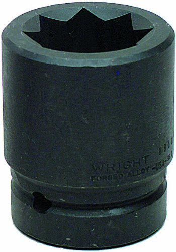 Wright Tool 8810 1-3//16-Inch with 1-Inch Drive 8 Point Double Square Impact Railroad Sockets