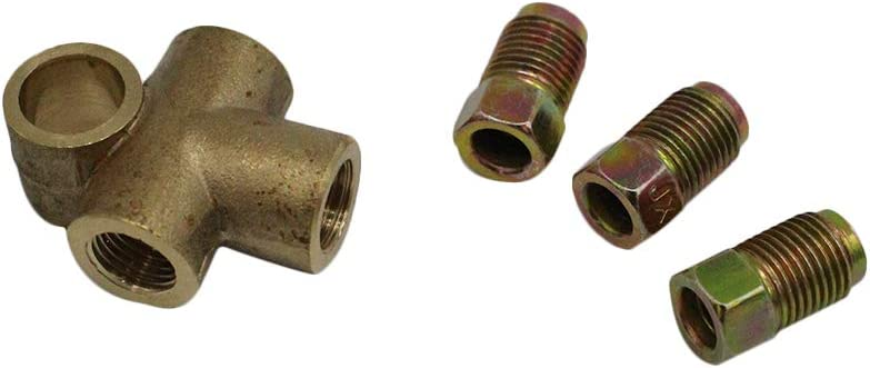 "3//16/"" T Piece /& 3 x Male 3//16/"" x 3//8/"" UNF Copper Brake Pipe Nuts Set x 4"