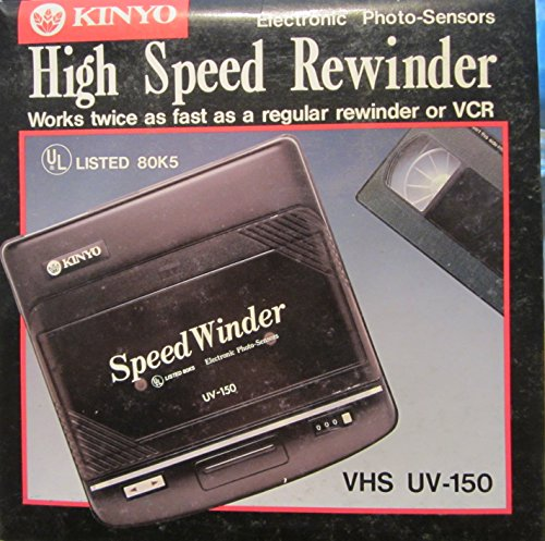 High Speed VHS Rewinder with Electronic Photo-Sensor Kinyo UV-150 by Kinyo