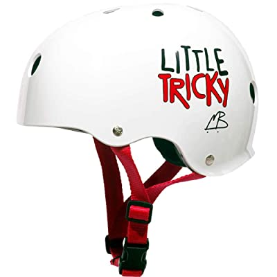 "Triple 8 Little Tricky Youth with EPS Liner White Glossy Skate Helmet - (Certified) - Youth 19.25"" - 22"" : Sports & Outdoors"