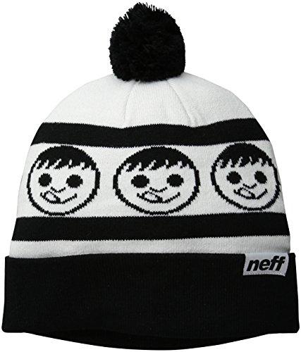 Neff Mütze Standard - Gorro de esquí para hombre blanco / negro