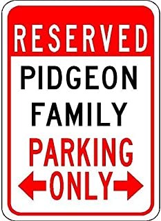prz0vprz0v Metal Signs Pidgeon Family Parking Customized Last Name 12'X18' qualità Aluminum Sign