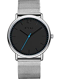 Watch VOEONS Mens Watches On Sale Clearance Silver Mesh Stainless Steel Wrist Watch for Men reloj de mujeres
