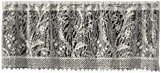 product image for Heritage Lace Coventry 45-Inch Wide by 18-Inch Drop Valance with Trim, Ivory