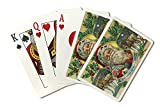 Savannah, Georgia - Holiday Greetings - Santa and Reindeer Scene (Playing Card Deck - 52 Card Poker Size with Jokers)