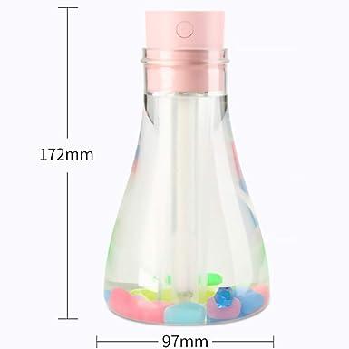 Botella deseo humidificador Rosa USB LED Pure Skin Care difusor de agua Oficina del coche del purificador del aire del hogar Difusor: Amazon.es: Amazon.es