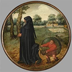 Oil Painting 'Pieter Brueghel II,I Mourn Because The World Is So Untrustworthy,1564-1636' Printing On High Quality Polyster Canvas , 8x8 Inch / 20x20 Cm ,the Best Laundry Room Artwork And Home Artwork And Gifts Is This Amazing Art Decorative Prints On