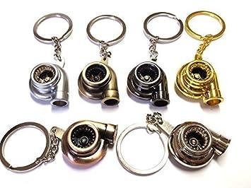1x Turbo Lader Schl/üsselanh/änger aus Metall in 6 Farben Schl/üssel KFZ PKW G60 G40 VR6 16V Turbolader mit drehendem Schaufelrad Anh/änger ca 9,0 Lang /& 2,9 Breit bronze