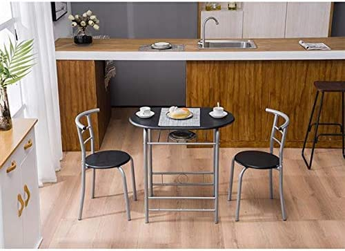 Amazon.com - Alger Max 3 Piece Dining Table Set with 2 ...