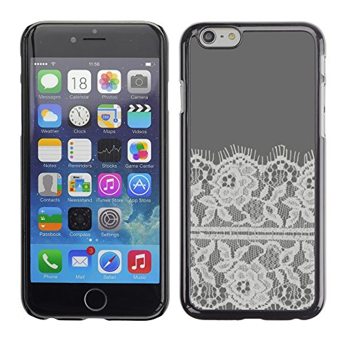 Soft Silicone Rubber Case Hard Cover Protective Accessory Compatible with Apple iPhone? 6 (4.7 Inch) - flowers crocheted fabric sewing
