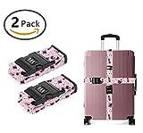JACINTAN Luggage Strap with Combination Lock, Pink Rabbit Poker magic hat