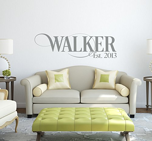 Personalized Family Name Signs - Name Wall Decal - Monogram
