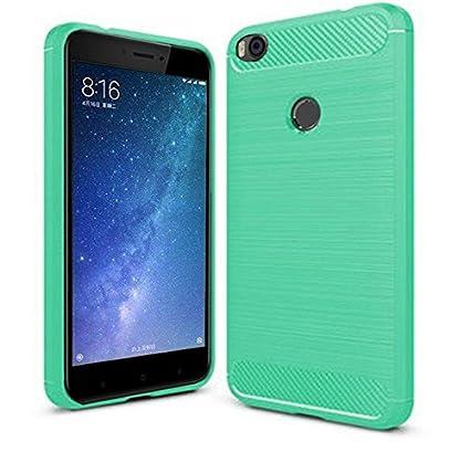 PREVOA Funda para Xiaomi Mi Max 2 - Colorful Silicona TPU Funda Case Resistente Diseño para Xiaomi Mi Max 2 Smartphone - (Verde)