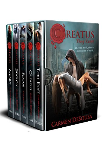 The Creatus Series is not your normal paranormal story…it's a realistic romantic mystery based on the myths you've heard your entire life. Prepare to believe… Creatus Series 5-in-1 Boxed Set by Carmen DeSousa