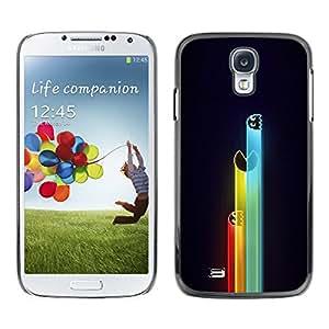 KOKO CASE / Samsung Galaxy S4 I9500 / juegos de ordenador personajes de neón retro de dibujo / Delgado Negro Plástico caso cubierta Shell Armor Funda Case Cover