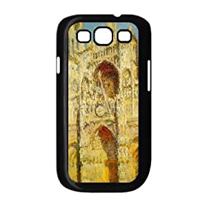 Stevebrown5v Cathedral Samsung Galaxy S3 Cases the Rouen Cathedral Claude Monet, [Black]