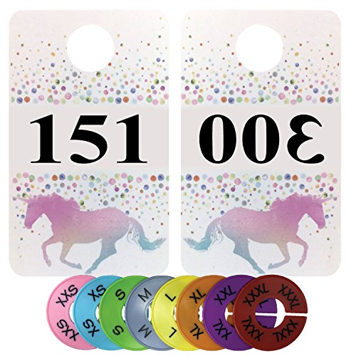 Number Cards for Live Sales | Large Coat Number Tags | Reverse & Mirrored Lularoe Tags | For Facebook Live | For Lularoe Live Sales | Bundled with Round Size Tags (151-300 (+ 8 Size Tags)) -