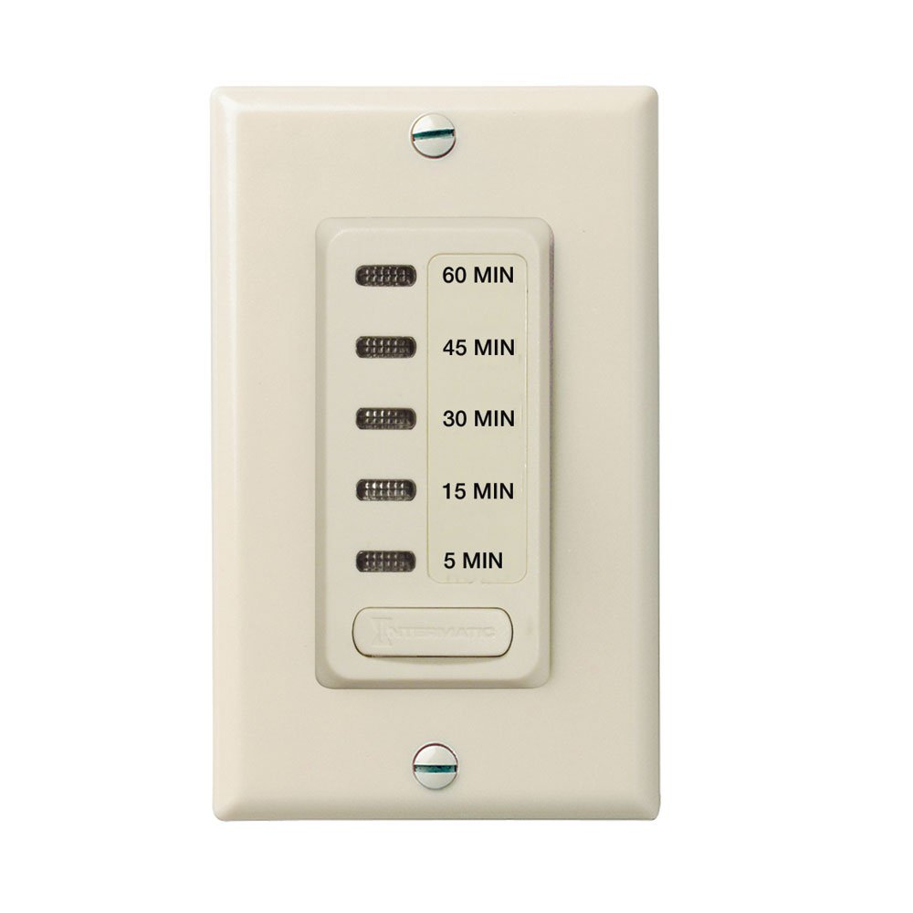 Intermatic EI215LA 15/30/60 Minute, 2/4 Hour SPST 1800-Watt In-Wall ...