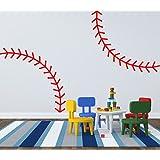 Baseball Thread Vinyl Wall Decal