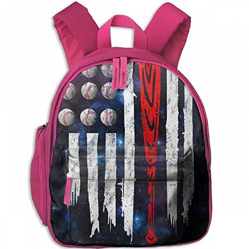 Basics Back Pitcher To (Baseball America Flag Vintage Children's Lightweight Canvas Travel Backpacks School Book Bag)