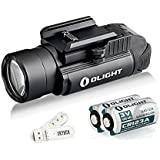 Olight PL-2 Valkyrie 1200 Lumens CREE XHP35 HI LED 235 Meters Weapon Light Use 2x CR123A Batteries Tactical Flashlight With SKYBEN USB Light