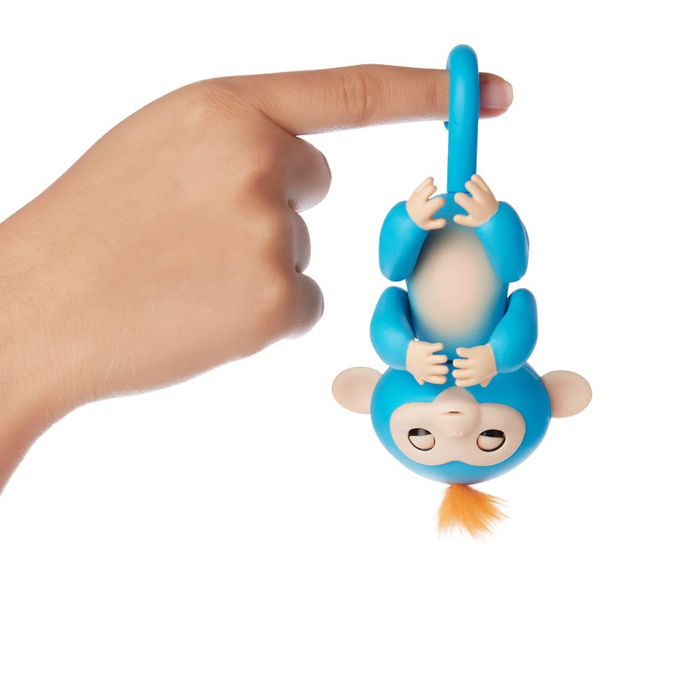 Fingerlings - Interactive Baby Monkey- Boris (Blue with Orange Hair) By WowWee by WowWee (Image #4)