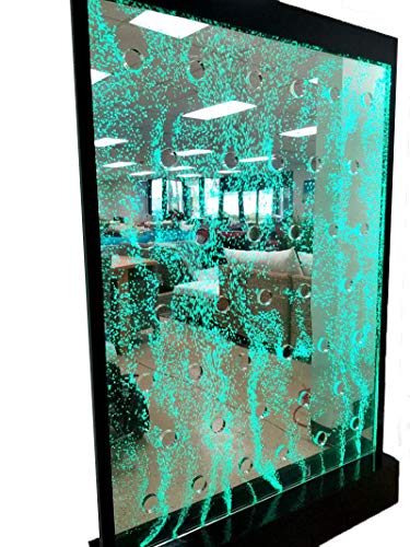 Panel Floor Fountain Water (SDI Deals 4' Wide x 6' Tall Full Color LED Lighting Bubble Wall Floor Panel Display Fountain for Commercial or Residential Use)